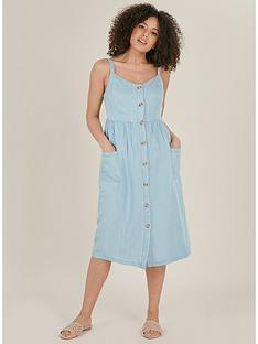 evans-denim-look-button-down-dress