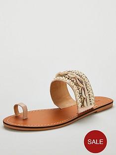 michelle-keegan-hove-shell-toe-loop-leather-sliders-nude
