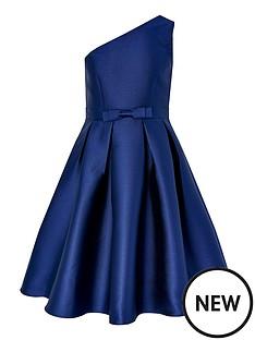 5e795b6cacf Monsoon Girls Storm Connie 1 Shoulder Dress - Navy