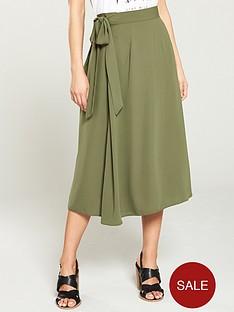 v-by-very-solid-crepe-tie-waist-skirt-khaki