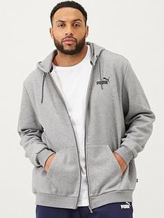 puma-plus-size-essentials-full-zip-hoody-grey