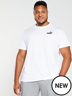 puma-plus-size-essential-small-logo-t-shirt-white