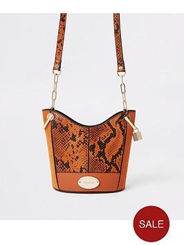 river-island-river-island-snake-print-bucket-bag--orange