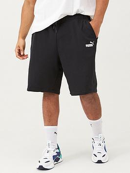 puma-plus-size-mens-essentials-sweat-shorts-black
