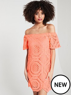 river-island-lace-swing-dress-coral