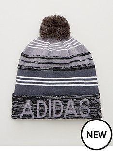 adidas-golf-pom-pom-beanie-blackgrey