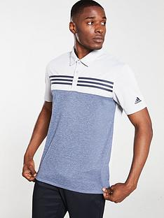adidas-golf-heather-block-polo-grey