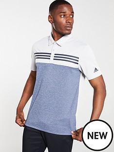 adidas-golf-heather-block-polo-grey