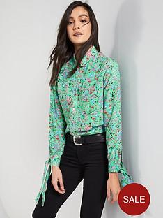 levis-levis-selita-western-floral-tie-cuff-blouse