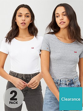 levis-2-pack-t--shirt-whitegreynbsp