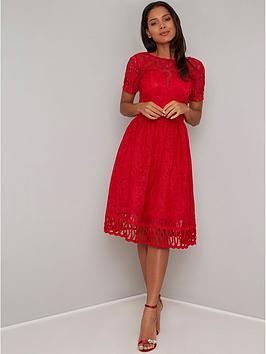 0cc139d634fe Chi Chi London Lavinia Dress - Red