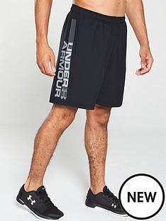 under-armour-woven-graphic-wordmark-shorts-blackgrey
