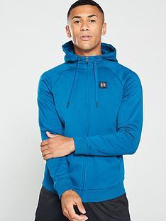 under-armour-rival-fleece-full-zip-hoodie-tealblack