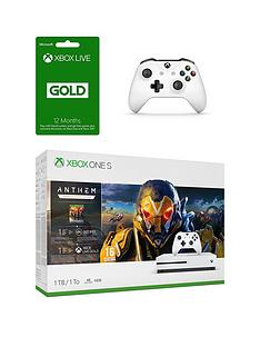 xbox-one-s-1tb-anthem-consolenbspwithnbspxbox-live-12-month-gold-membership-card-amp-xbox-one-wireless-controller-white