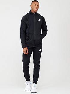 puma-clean-sweat-tracksuit-black