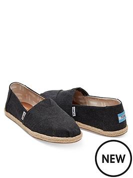 96cc97b17b6 Toms Alpargata Vegan Canvas Shoes - Black | littlewoodsireland.ie