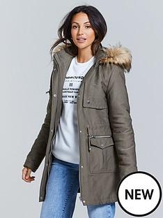 michelle-keegan-premium-faux-fur-lined-hood-parka-khaki
