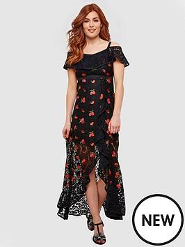 d248451f83c12 Joe Browns Fruity Flamenco Lace Dress - Black | littlewoodsireland.ie