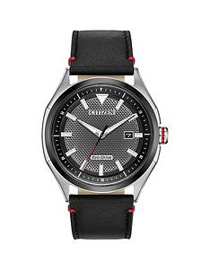 citizen-citizen-eco-drive-gunmetal-grey-date-dial-black-leather-strap-mens-watch