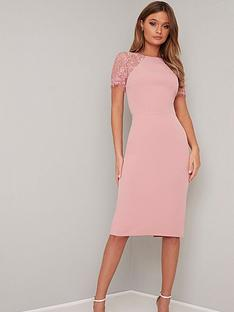 chi-chi-london-shannon-lace-back-detail-midi-dress-pink