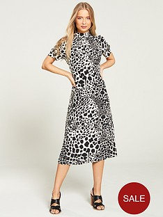 v-by-very-mid-sleeve-midi-dress-monochrome-print