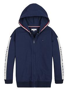 tommy-hilfiger-girls-logo-zip-through-hoodienbsp--navy