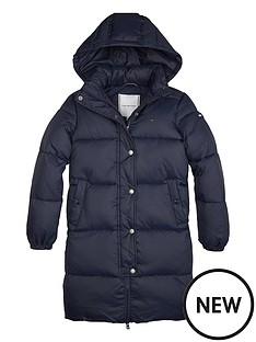 tommy-hilfiger-girls-recycled-long-hoodednbsppadded-coat-navy