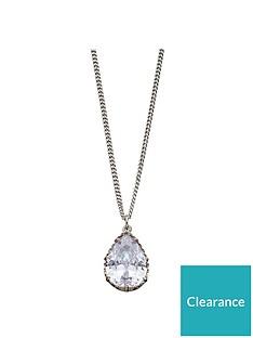 fiorelli-jewellery-silver-cubic-zirconia-stone-pendant-necklace