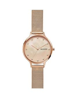 skagen-anita-blush-mother-of-pearl-dial-rose-gold-stainless-steel-mesh-strap-ladies-watch