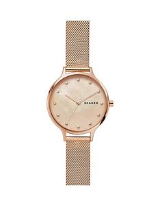 skagen-skagen-anita-blush-mother-of-pearl-dial-rose-gold-stainless-steel-mesh-strap-ladies-watch