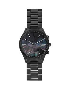 skagen-skagen-black-mother-of-pearl-dial-black-titanium-bracelet-mens-hybrid-watch