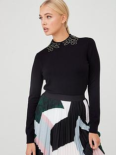 ted-baker-azaleo-embellishment-detail-jumper-black
