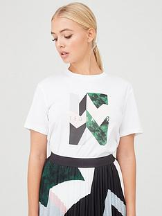 ted-baker-lindiaa-sapphire-printed-relaxed-tee-white