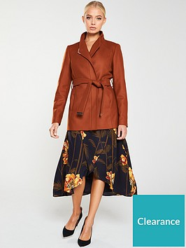 ted-baker-drytaa-short-wrap-coat-brown