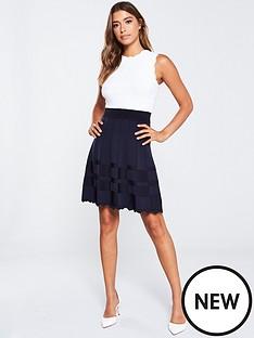 ted-baker-polino-contrast-skirt-knitted-dress-dark-blue