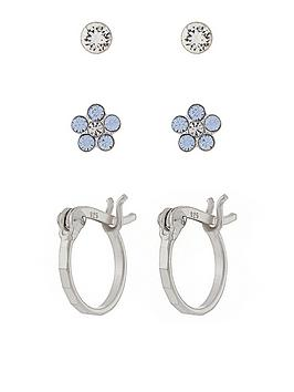 accessorize-st-x3-crystal-flower-and-hoop-set-earrings-silver