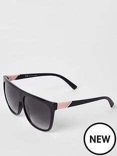 river-island-river-island-black-visor-sunglasses--black