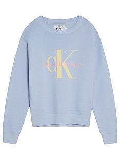 calvin-klein-jeans-girls-monogram-organic-cotton-jumper-blue