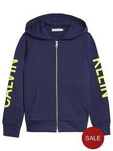 calvin-klein-jeans-boys-neon-logo-zip-through-hoodienbsp--navy
