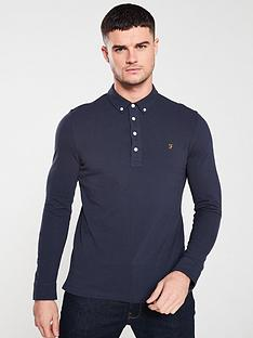 farah-ricky-long-sleeve-polo-shirt-true-navy