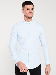 farah-long-sleeved-brewer-shirt-sky-blue