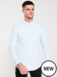 farah-long-sleeved-brewer-shirt-sky-blue