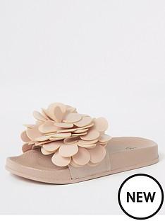 river-island-girls-flower-embellished-sliders-pink