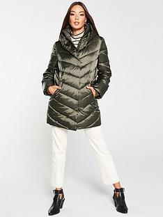 v-by-very-shawl-collar-long-padded-coat-khaki