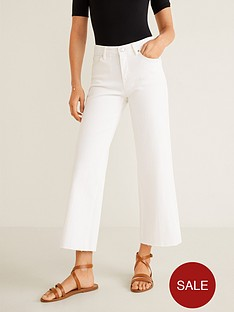 mango-frayed-edge-straight-jeans-white