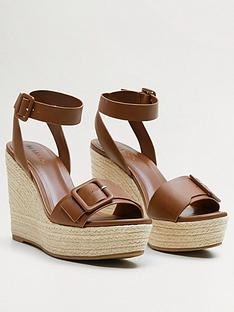 mango-buckle-front-high-wedge-sandals-brown