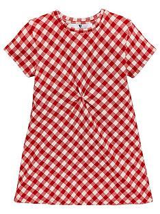 v-by-very-girls-check-twist-shift-dress-red