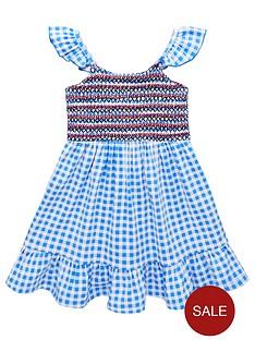 v-by-very-girls-gingham-floaty-midi-dress-blue