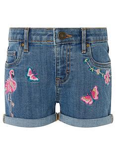 5fc1e8dc6b4 Monsoon Farrah Flamingo Shorts - Blue