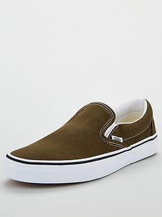 vans-classic-slip-on-plimsolls-khakiwhitenbsp